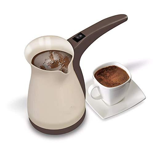 LSS mini-koffiezetapparaat, capaciteit voor vijf kopjes elektrische koffie, voor het bereiden van koffie, nieuw elektrisch materiaal, twee in één, elektrische mokka-pan, koffiekoker, grijs