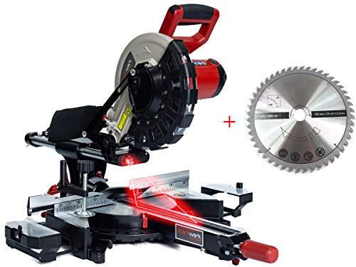 2000 Watt 2x HM-Sägeblatt 254 mm / 48 Zähne Soft-Start Laser Kappsäge Zugsäge Gehrungssäge Radialsäge Starkwerk SW 254