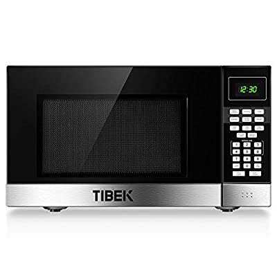 Microwave Oven, TIBEK Countertop Microwave Oven with Sound On/Off ECO Mode and LED Lighting, 0.9 Cu. ft/900W, Stainless Steel