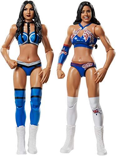 WWE - Pack 2 figuras de acción luchadores Kay vs Royce con accesorios de lucha...