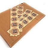 Sobre, pochette kraft para tus envios, 250x350x50 mm, eco-friendy ecommerce packaging, con etiquetas Gracias