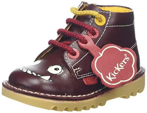 Kickers Baby Jungen Kick Hi Monster Sneaker, Violett (Burgundy Burgundy), 27 EU