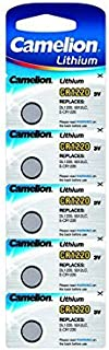 Camelion Lithium Knopfzellen, CR1220 / DL1220 / 5012LC / E CR1220 / SB T13, 3V   5 Stück