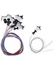 10 Pedazos Modelo de Farola LED en Miniatura Lámpara de Calle Luz de Noche Decoración para Mesa de Arena Micro Paisaje - 1.9cm-2