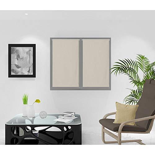 Soleil d'ocre Rideaux Brise-bise, Naturel, 45 x 90 cm