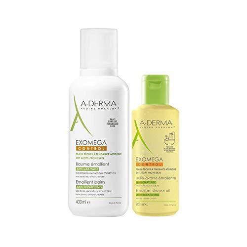 A-derma Exomega Control Emollient Balm 400ml Offerta Olio Detergente 200ml