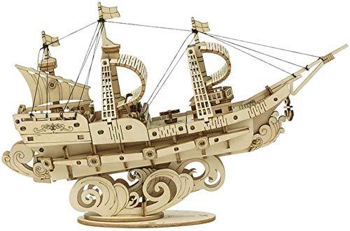 Abcoll 3D dreidimensionales Puzzle Spielzeug Kreative Holz Montage Boot DIY Handmade Segelboot Modell Hohe Reduktion 118 Stück