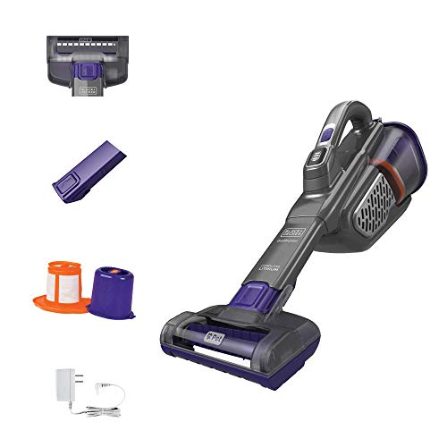 BLACK+DECKER dustbuster Handheld Vacuum for Pets, Cordless, AdvancedClean+, Gray (HHVK515JP07)