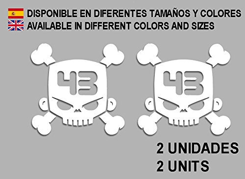 Ecoshirt 1V-8ZXF-V2HE Stickers Ken Block F13 Vinyle Stickers Décalcomanies Autocollants Autocollants pour Voiture Sport Racing Blanc