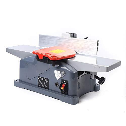 Jointers Woodworking, 6 Inch 9000/Min 110V 1280W Benchtop Jointer 156MM Width 3MM Depth Jointer Planer with Handle, 6' Benchtop Jointer for Planing Wood, Bamboo, Lining Nylon