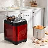 Sooiy Automático de la máquina de Pan, rápido Inteligente Breadmaker táctil con Pantalla LCD y 18 menús, 1 Hora de...