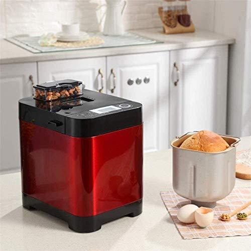 Sooiy Automático de la máquina de Pan, rápido Inteligente Breadmaker táctil con Pantalla LCD y 18 menús, 1 Hora de Aislamiento, 450W
