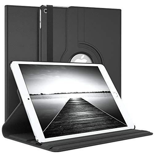 EAZY CASE Tablet Hülle kompatibel mit Apple iPad Air 1, 360° Standfunktion I Schutzhülle mit Sleep & Wake Funktion I Tablethülle, Case aus Kunstleder, Schwarz