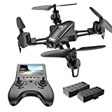 Holy Stone Racing Drone with HD Camera for Adults Beginners, Quadcopter with 120°FOV 720P FPV Camera, 5.8G Real Time Live Video Transmission, Built-in LCD Screen, High Speed, Auto-Hover, Bonus Battery