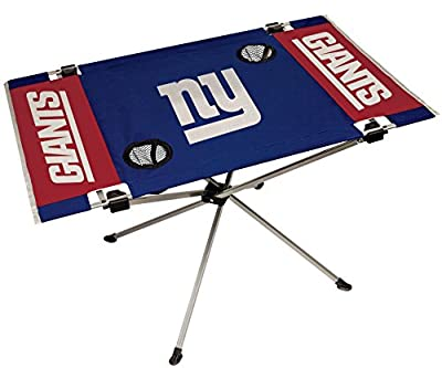 NFL Portable Folding Endzone Table, 31.5 in x 20.7 in x 19 in, New York Giants