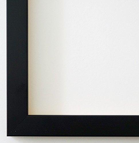 Online Galerie Bingold Bilderrahmen Neapel Schwarz 2,0 I DIN A5 (14,8 x 21,0 cm) mit Museumsglas (WRU) inklusive Montagematerial I handgefertigte Holz Fotorahmen Posterrahmen Urkundenrahmen