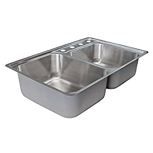 Franke Evolution Stainless Steel Offset Double Bowl Kitchen Sink