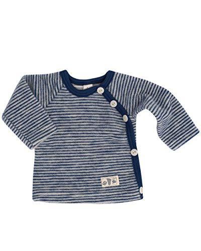 Lilano, Baby Wickel Pullover, 100% Wollfrottee Flausch (kbT) (56, Marine Geringelt)