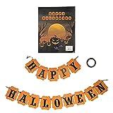 Lazimin Banners De Feliz Halloween, Banderines De Estilo Vintage De Campo, Pancartas Ecológicas Antes De Halloween, Opción Ideal para Decorar Chimeneas Y Repisas