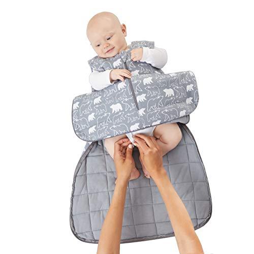 günaPOD サック 簡単重み ラグジュアリー ベビー スリープ バッグ バンブービスコース 羽毛布団 WONDERZIP付き 2.6TOG 3-9 Months グレー