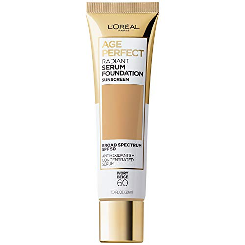 L'Oreal Paris Age Perfect Radiant Serum Foundation with SPF 50, Ivory Beige, 1 Ounce