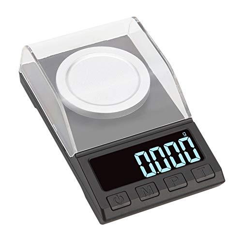 Adanse 0.001G Elektronische Pr?Zisionswaage Digitalwaage Edelsteinschmuck Diamantwaage Tragbares Laborgewicht Milligrammwaage 100G 0.001G