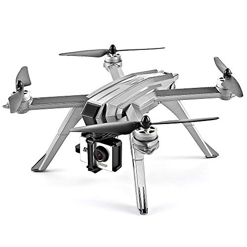 FPV Drone GPS Met HD-Camera Follow Me-Modus Borstelloze Motor RC Helicopter Quadcopter, Plan Vluchtroute Op APP-Interface, Kan Als Cadeau Aan Uw Kind Worden Gegeven,Metallic