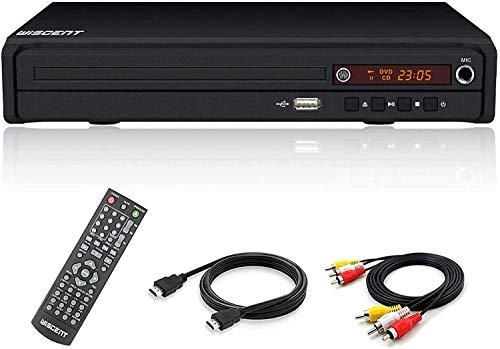 DVD-Player für TV,DVD/CD/MP3-Disc-Player mit Fernbedienung,Alle Regionen frei ,PAL/NTSC (WST977)