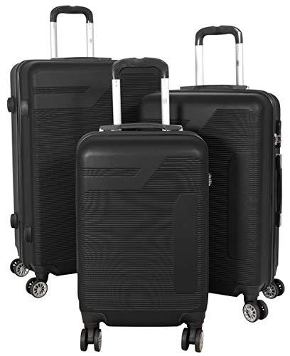 Bogota - Juego de maletas rígidas (3 unidades, tamaño M, L y XL)