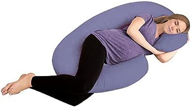 AVI Full Body Pregnancy Pillow - Maternity Pillow for Pregnant Women - C Shaped Body Pillow with 100% Cotton Pillow Cover-Dark Blue