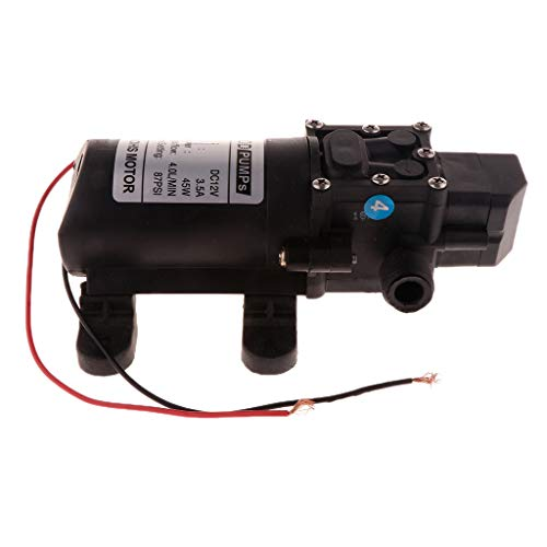 P Prettyia Diafragma Micro Eléctrico Agrícola de Presión de DC12V 87PSI 4L / Min - segundo