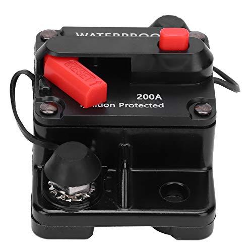 SEDOOM Disyuntor, Portafusibles De Reinicio Automático Cobre Resistente Al Agua, Interruptor Automático, Rojo, DC12‑42V, 200A