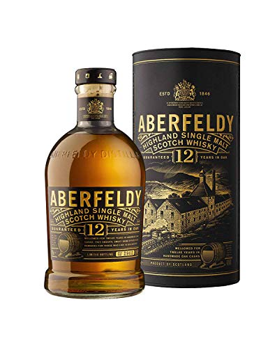 Aberfeldy 12 ans d'ge Highland Single Malt Scotch Whisky...