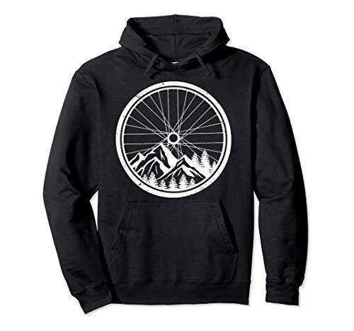 Mountainbike-Reifen Natur Radfahren Outdoor Biking Biker Pullover Hoodie
