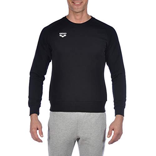 arena Herren-Sweatshirt mit Rundhalsausschnitt, Unisex-Erwachsene Herren, Hemd, Official USA Swimming National Team Men's Crew Neck Sweatshirt, schwarz, 3X-Large