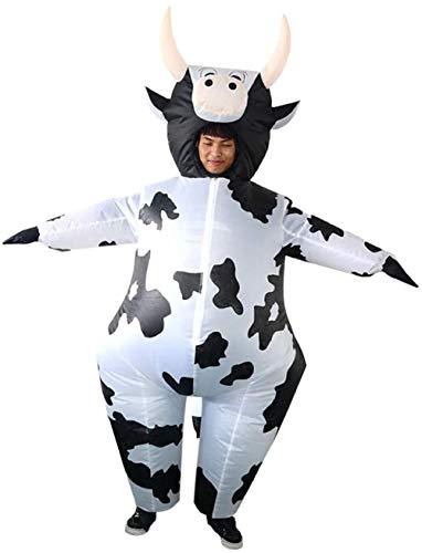 TBBE Lustiges aufblasbares Kuh Kostüm Jumpsuit Halloween Party Verkleidung