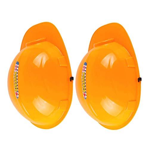VILLCASE 2 Piezas de Casco de Seguridad de Plástico para Niños Cascos de Seguridad para Ingenieros Juguetes para Niños