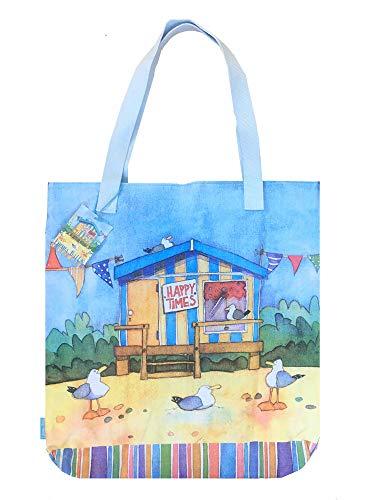 Emma Ball - Bolsa de algodón (tamaño grande), diseño de casetas de playa