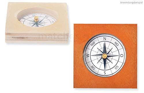 matches21 Magnetkompass Kompass Holzbausatz Bausatz Werkset Bastelset für Kinder ab 10 Jahren