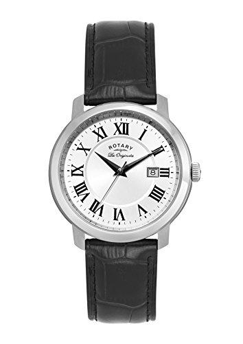 Rotary Reloj Análogo clásico para Hombre de Cuarzo con Correa en Cuero GS90090/06
