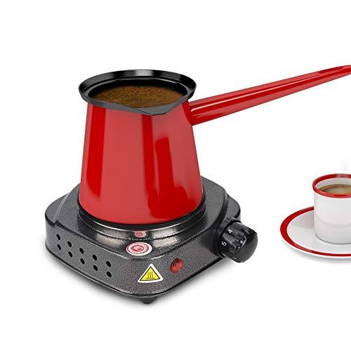 Multifunktions Elektroherd, Mini Heizplatte Elektroofen, Kaffee, Tee, Warmwasserbereiter Home Heater Kochplatte (Silber + Grau 220-230 V EU-Stecker)
