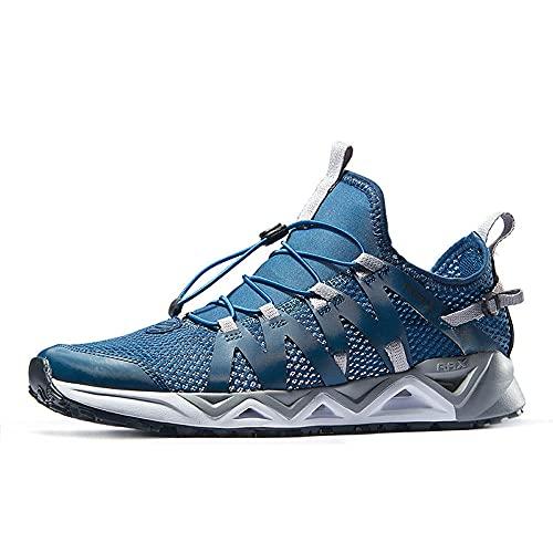 Aerlan Gym Shoes Lightweight Shoes,Zapatillas de Senderismo ultracenter Dry, vadear Deportivas Masculinas-Blue_41,Botas de montaña Deportivas