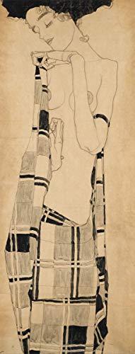 Berkin Arts Egon Schiele Giclée Tela Stampa La Pittura Poster Riproduzione (Ragazza in Piedi)