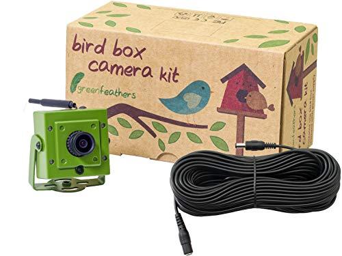 Green Feathers Wildlife WLAN Vogelhaus Full HD 1080p Kamera mit IR (Nachtsicht), MicroSD Aufnahme, inkl. 10m Netz-Verlängerungskabel