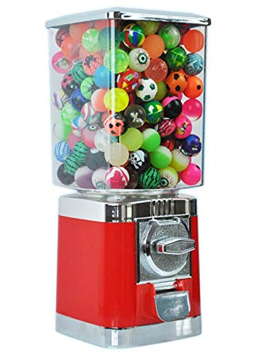 Red Retro Commercial Grade TR103 Gumball / Bouncy Balls / Gobstopper / Capsule Vending Machine (20p Coin Operated)