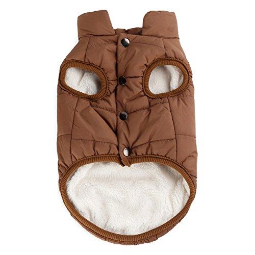 Woopower warmer Hundemantel, winddichte Welpenweste Jacke Haustier Winter Kleidung für kleine/mittlere/große Hunde, Größen: XS-3XL