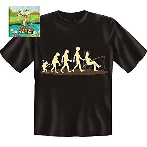 Unbekannt T-Shirt Evolution Angeln Größe XL + Aufkleber