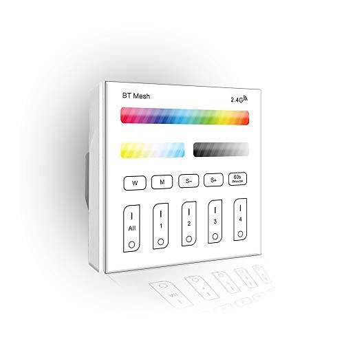 Smart Panel RF Remote Controller Touch-Schalter Fernbedienung Dimmer 230V 4-Zonen RGB + CCT für RGBCCT LED Streifen RGBCCT Birne Downlight