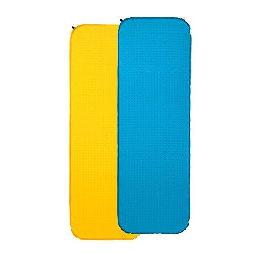 Colchoneta Inflable para Dormir Colchón De Aire Autoinflable Automático Colchoneta Plegable Portátil Colchoneta para Dormir Individual Acampar Al Aire Libre Coche (Size:183 * 51 * 3cm; Color:Yellow)