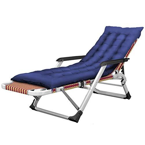WJJJ Stuhl Entspannende Gartenliege in klappbarem Gartenbett liegend Textoline Zero Gravity Garden wetterfest, verstellbar (Farbe: Stuhl + Kissen 2)